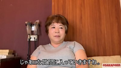 57 years senior japanese hefty mama with meaty knockers chats in interview about her drill experience. elder asian lady demonstrates her old beautiful body. coco1  mom plus-size Osakaporn