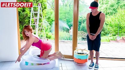LETSDOEIT - #Nick Ross  #Eva Berger - teasing Russian milf mom scorching fuck-fest By The Pool With Her shy Stepson
