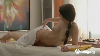 Teen Has Her Perfect Body Oiled & Fucked