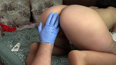 going knuckle deep for my girlfriend. hairy cunt and huge hairy booty doggy style. Fetish unusual couple.