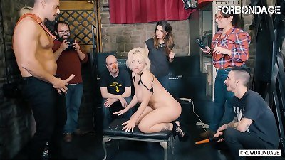 FORBONDAGE - Argentinian thick ass babe blonde Fesser attempts domination & submission group lovemaking With Ramon Nomar