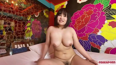 chinese adorable female with enormous melons jerks with romp toys and gets orgasm. She converses in interview about her nail experience. big boobs and hairy labia groan loudly. plumper plump  Osakaporn